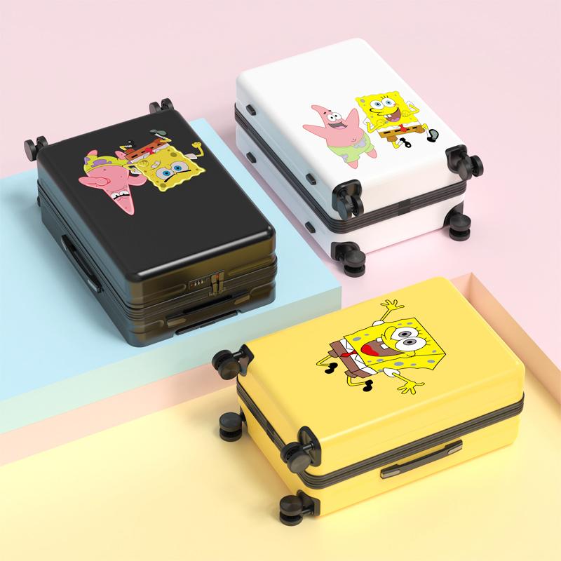 肖战爱的派大星海绵宝宝皮箱可爱行李箱插画儿童拉杆箱定制密码箱