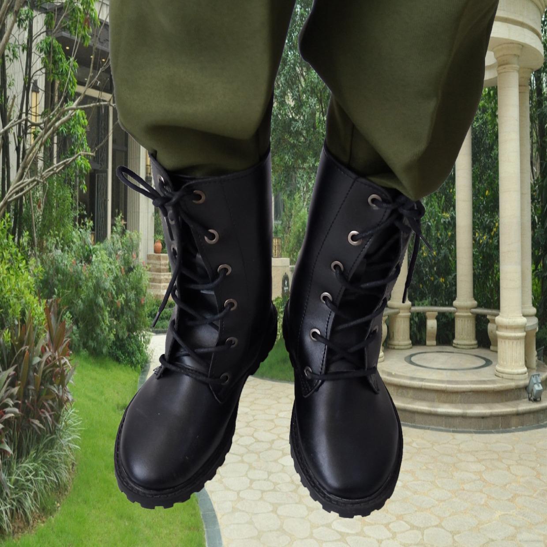 儿童军靴男童户外作短训马丁女夏季学生战狼术仪仗队晴雨火蓝刀锋