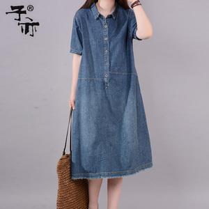 子亦2021夏装新款韩版中长款连衣裙