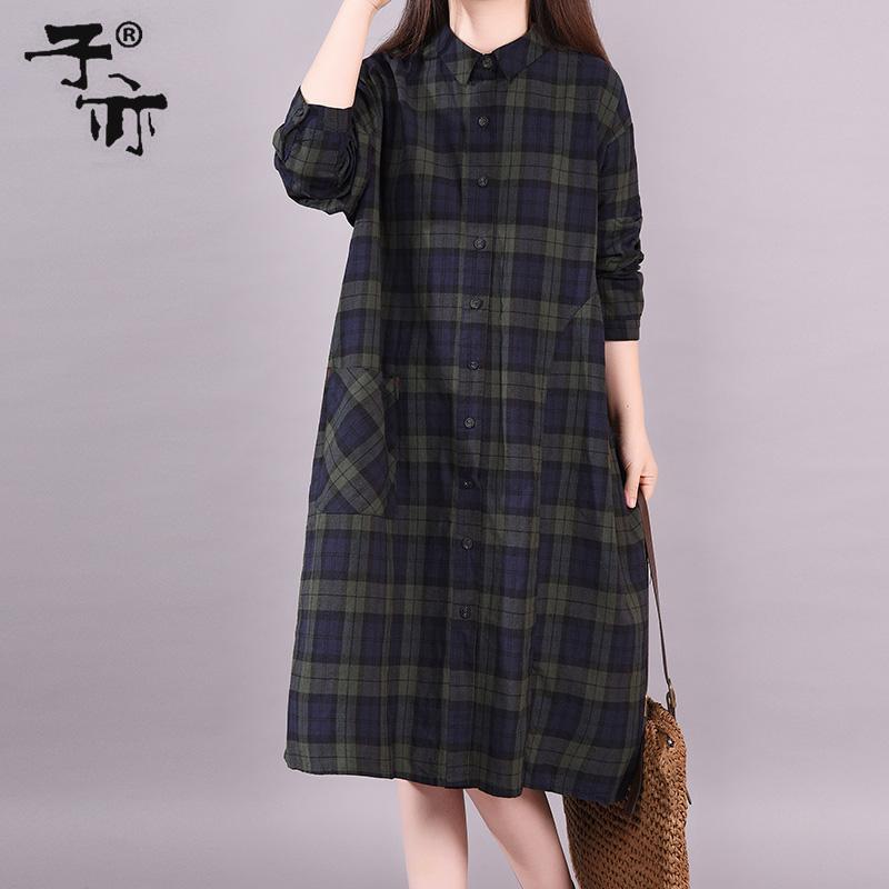 (用5元券)子亦2019秋装新款衬衫裙韩版衬衫