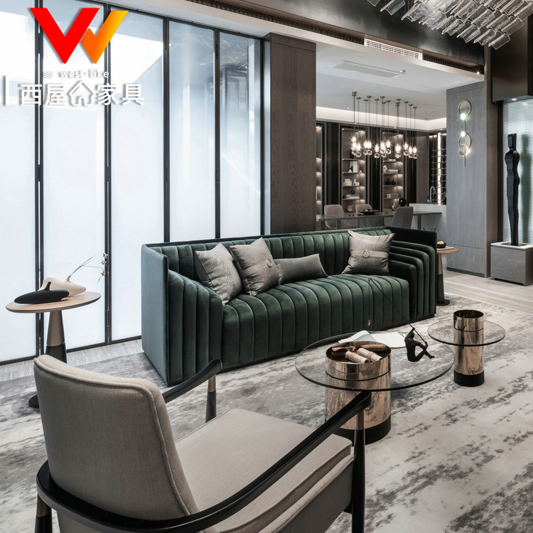 意大利轻奢港式沙发定制样板房间别墅接待设计师创意宾利芬迪家具