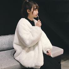 毛茸茸卫衣女2018秋冬季新款韩版学生长袖懒惰风ins超火的外套厚