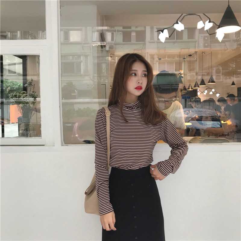 Blouses & Shirts Nice E Toy Word 2019 New Korean Version Spring Temperament Wild Shirt Female Lazy Long-sleeved Shirt Bottoming Chiffon Shirt Female Buy One Give One