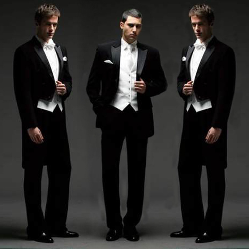 High end mens tuxedo, stage performance suit, conductors chorus suit, wedding banquet art examination suit and dress