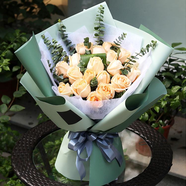 罗兰鲜花包装纸防水双色欧雅纸花店花束花艺包装纸材料手工包花纸