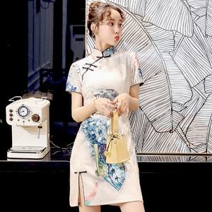 中国风优雅性感国潮改良旗袍少女年轻款复古小个子连衣裙日常可穿