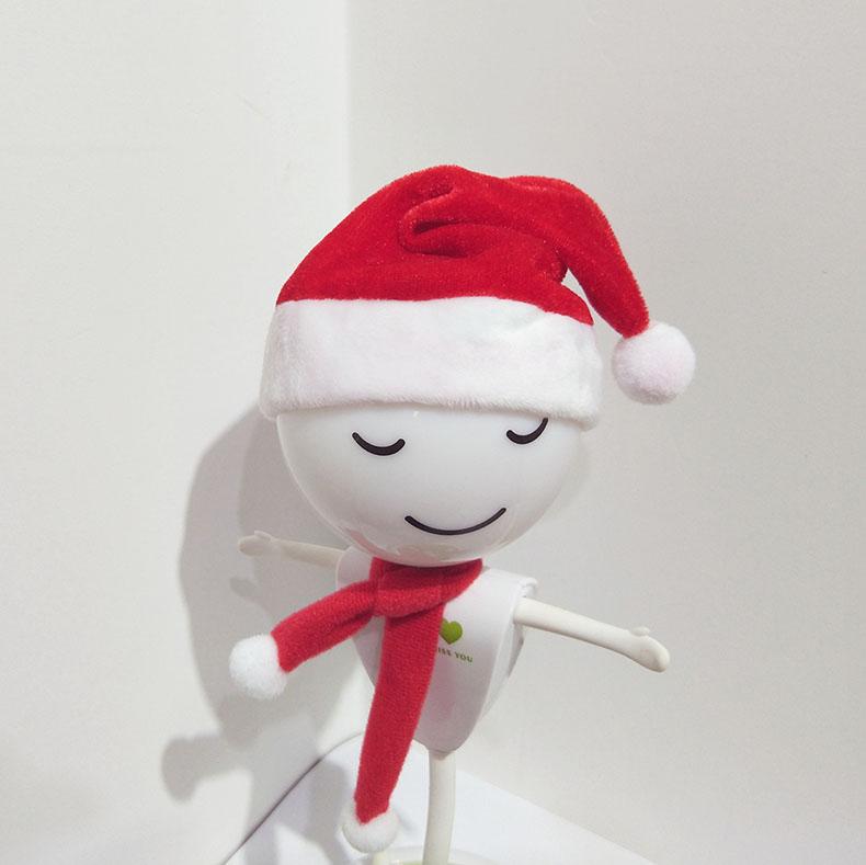 红色迷你圣诞帽 饮料红酒瓶装饰圣诞帽公仔小号帽子圣诞围巾