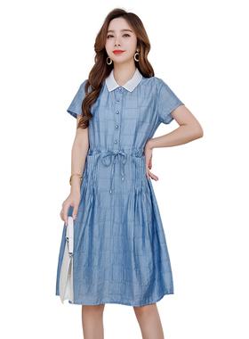 欧诗曼锦2020夏季新款短袖连衣裙