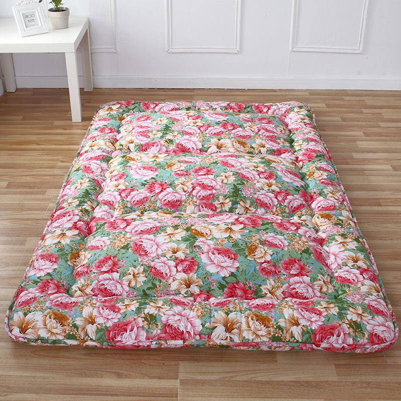 桑贡世家榻榻米床垫加厚可折叠单人学生宿舍床褥1.8m双人地铺睡垫,可领取5元天猫优惠券