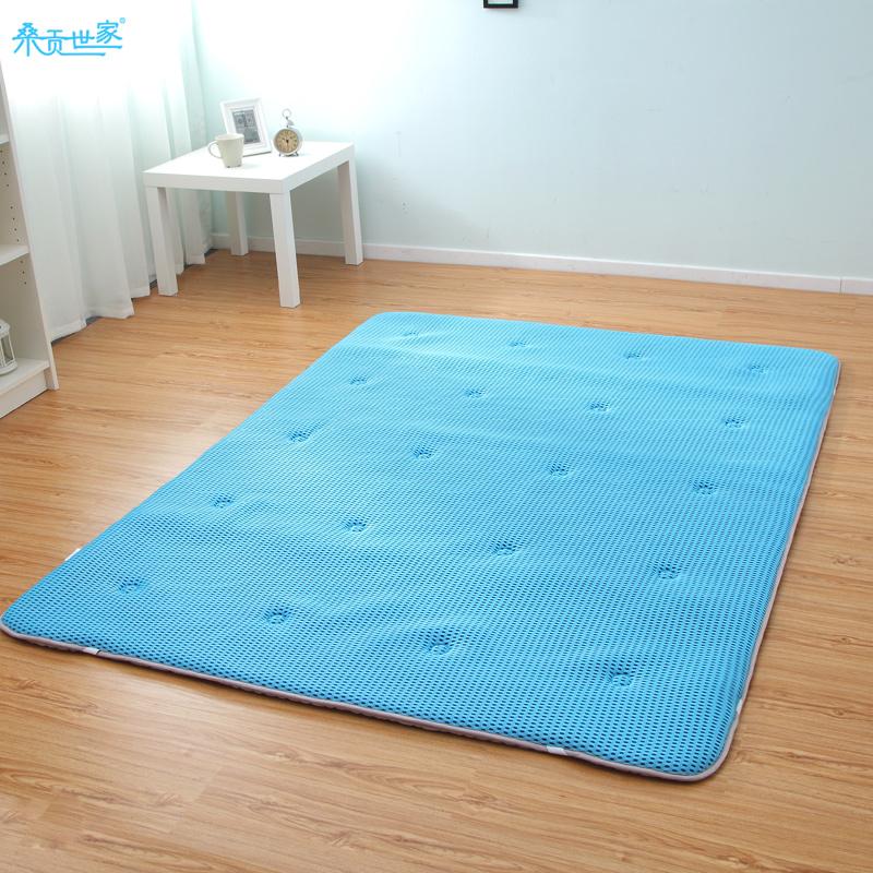 桑贡世家夏季可折叠榻榻米床垫透气双人床褥单人学生薄褥子地铺垫,可领取30元天猫优惠券