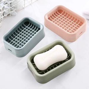 沥水肥皂盒 家用北欧创意带盖大号皂架塑料简约欧式双层香皂盒