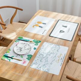 日式西餐垫PVC隔热垫餐桌垫防烫餐布餐盘碗垫子餐具儿童杯垫拍照图片