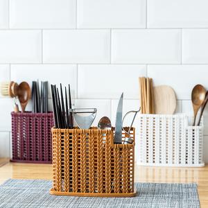 厨房筷子架餐具收纳盒家用沥水免打孔多功能筷子篓筷子筒筷子盒子