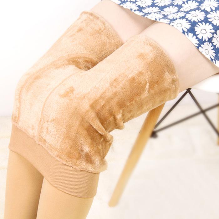 加绒加厚肉色打底裤冬天不掉档女绒裤外穿高腰冬季无缝棉裤保暖裤