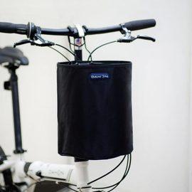 夢之藝防雨可折疊自行車籃子框籃前掛車筐電動車藍筐田園單車頭籃圖片