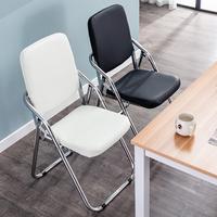 折叠椅子家用学生宿舍餐椅靠背椅简易会议凳子便携休闲培训电脑椅