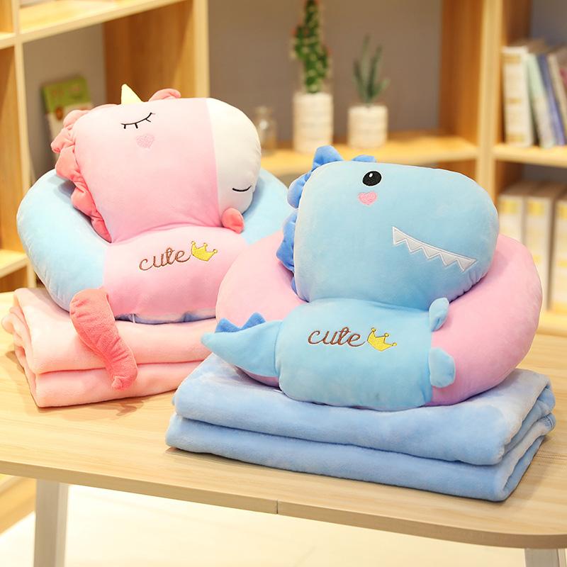 抱枕被子两用小学生办公室午睡枕