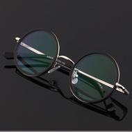 复古老花镜男150 200度时尚圆眼镜老人超轻高清防疲劳老光女舒适