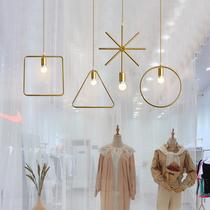 北欧服装店吊灯橱窗收银台创意个姓理发美发店灯具奶茶吧台装饰灯