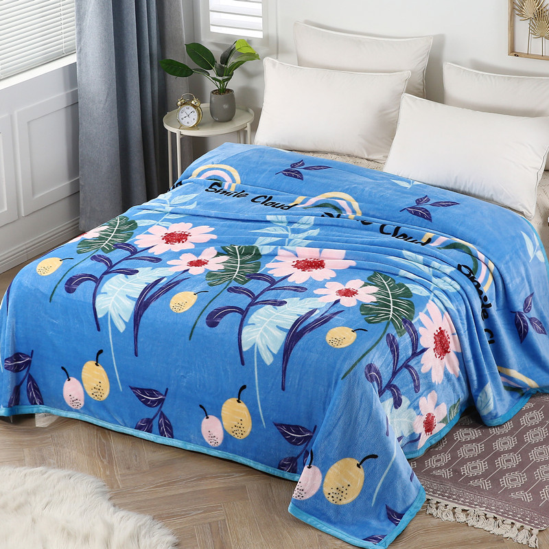 Winter coral sable flannel blanket double student net red bed sheet office air conditioning blanket thin quilt