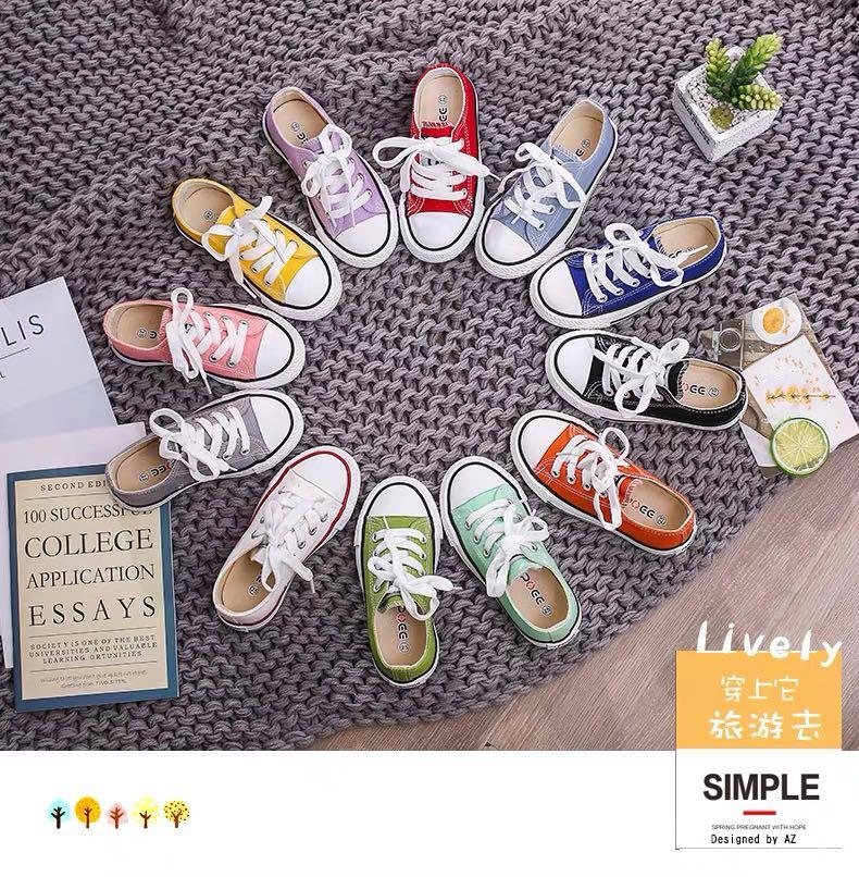2020儿童帆布鞋亲子鞋球鞋男童夏季女童鞋子宝宝婴儿板鞋白色特价