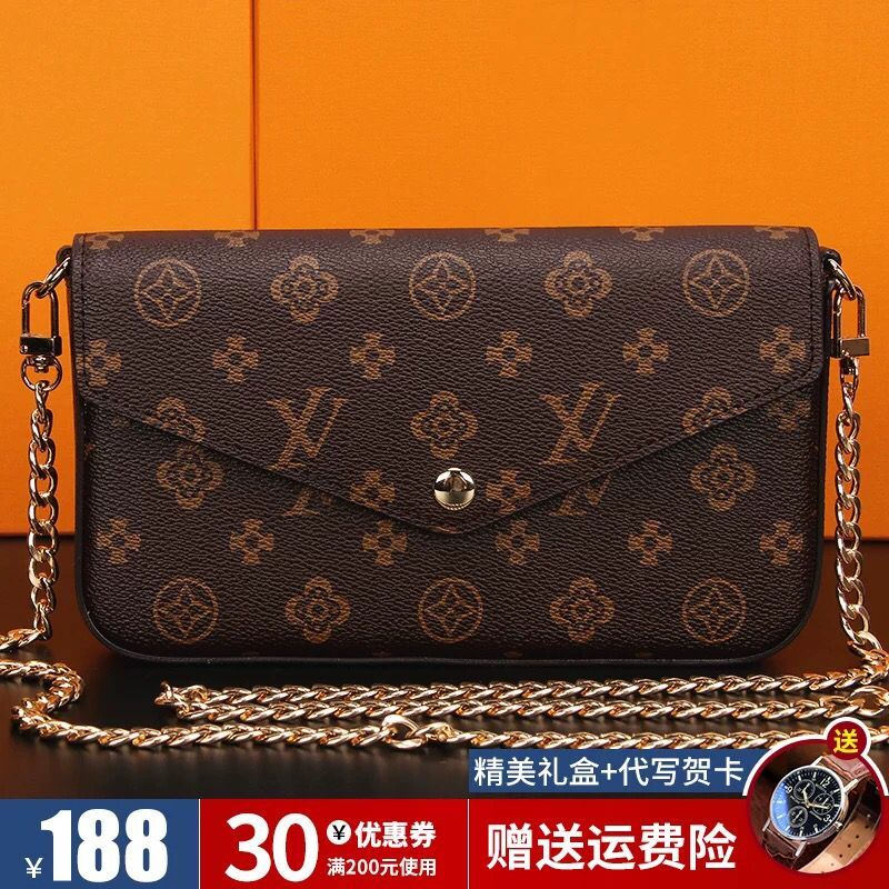 M LV new womens bag 20 fashionable versatile chain bag three in one womens bag cross shoulder LV & Ho hand bag