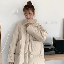 大码女装2019冬新韩版新款宽松减龄中长款面包服胖妹妹显瘦棉袄潮