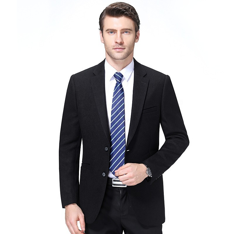 Spring and autumn middle aged mens Woolen suit jacket business casual woolen top slim coat father suit