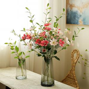 清新自然!高摆件客厅套装小仿真花