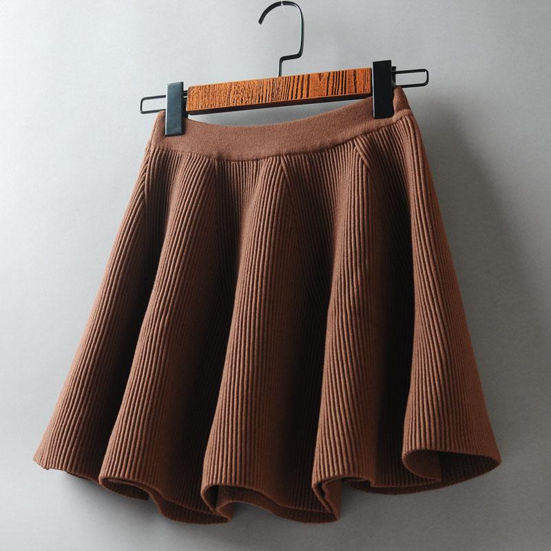 12月01日最新优惠2019秋季女装新款毛线松紧腰半身裙