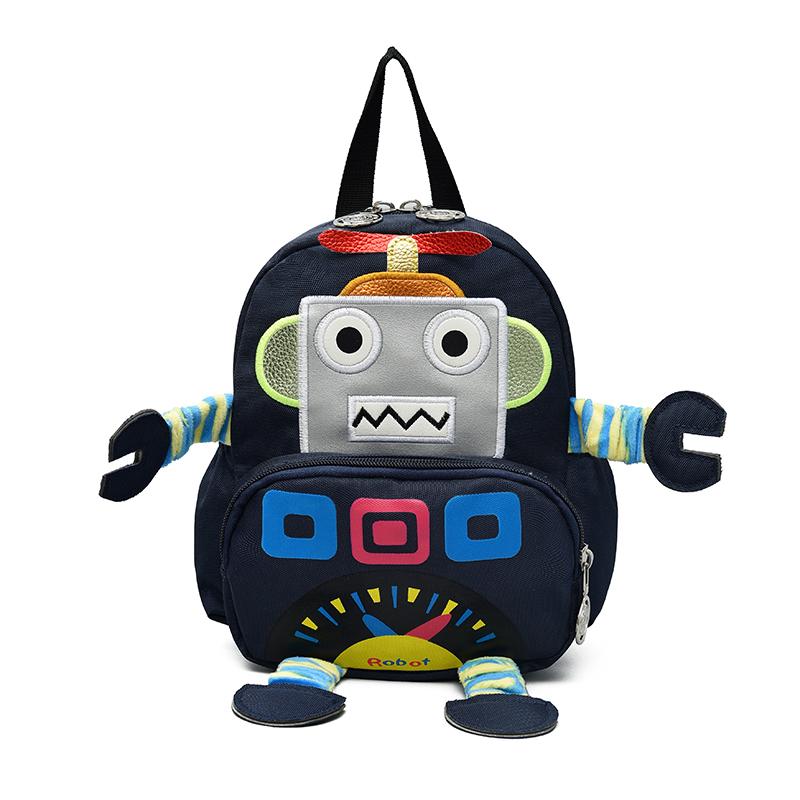男女1-4岁儿童帆布卡通机器人12-02新券