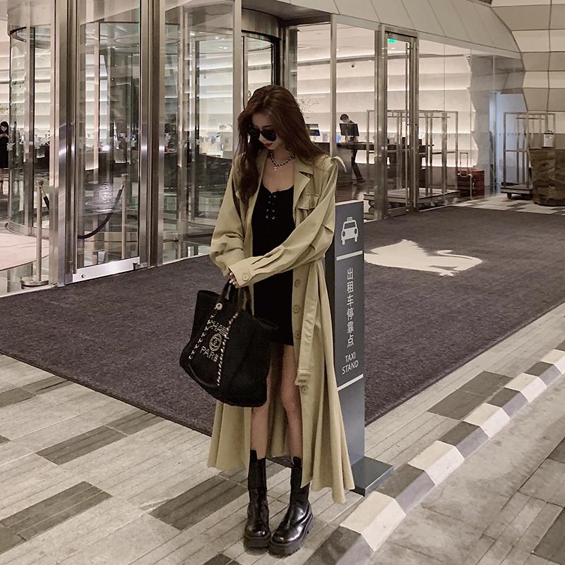 小衣橱管家气质收腰中长款风衣外套女2020年秋冬新款时尚宽松大衣