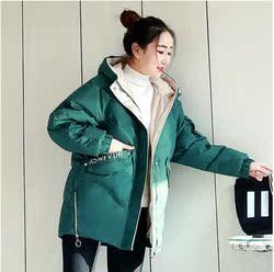 羽绒棉服女中长款2020年冬装新款韩版宽松加厚小个子棉衣棉袄外套