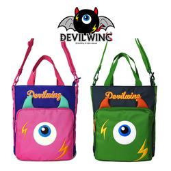 韩国devilwing小学生补习包儿童补课包斜挎男工具美术袋手提书包