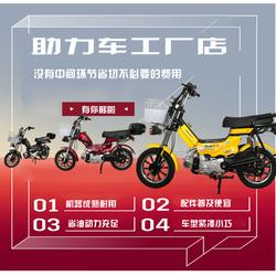 美团外卖车迷你燃油助力车助力摩托车外卖车钓鱼车助力车自行车