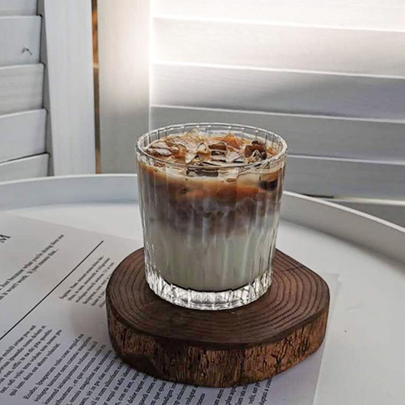 One Fance复古进口玻璃杯ins拿铁美式咖啡杯古典威士忌鸡尾酒杯