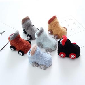 婴儿地板袜新生儿袜子春秋季防滑透气袜套0-6-12月宝宝学步袜造型