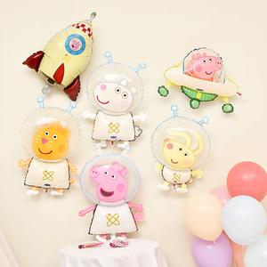 可爱小猪佩奇卡通铝膜气球生日派对装饰儿童生日礼物周岁布置装饰