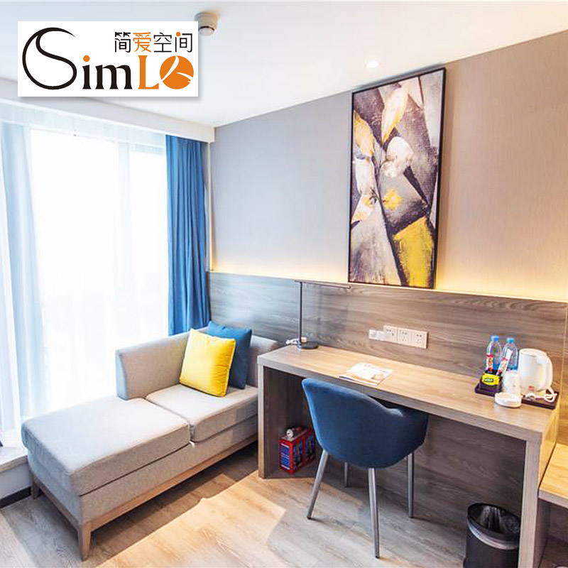 Jane Eyre space business chain hotel furniture customized guest room furniture 1.2m 1.8m bed simlo-13