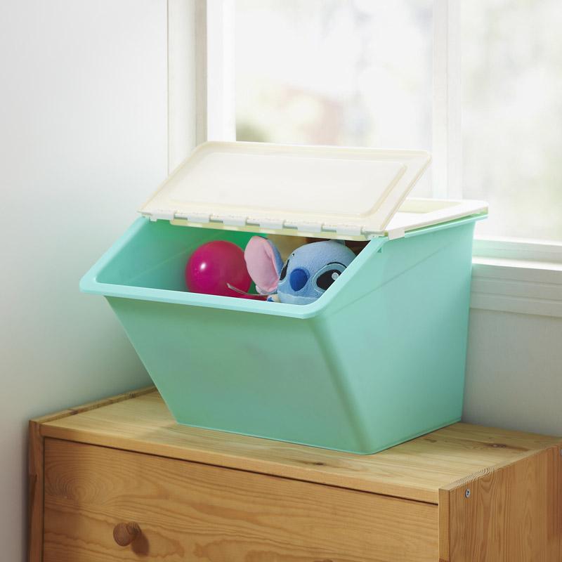 狄嘉伦厨房收纳箱塑料侧开式收纳盒儿童玩具整理箱衣服储物箱大号