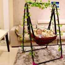婴儿吊篮吊床儿童家用室内摇篮椅阳台椅宝宝户外秋千室内哄娃神器