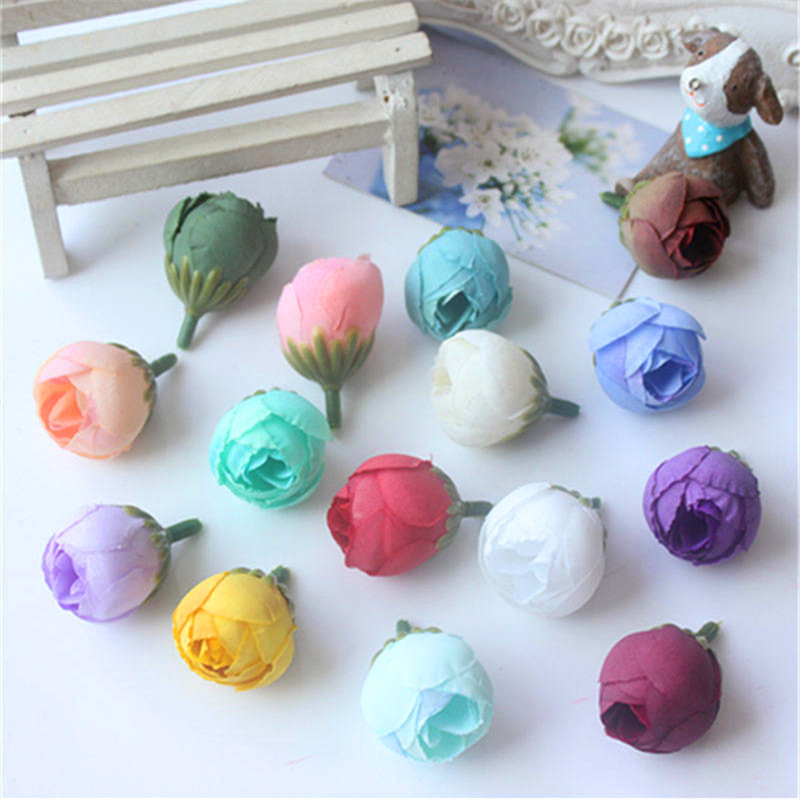 DIY handmade garland material antique oil painting small flower bud Sen series hand made accessories artificial flower rose head