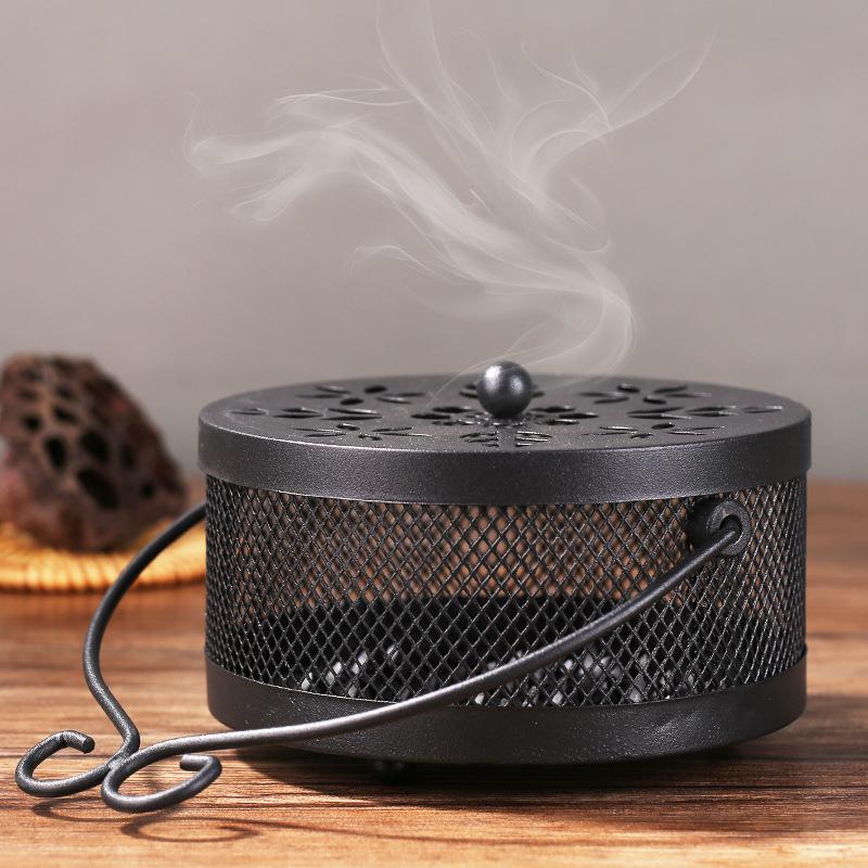 防火蚊香盘托带盖蚊香盒蚊香架接灰盘点蚊香炉家用大号创意可悬挂