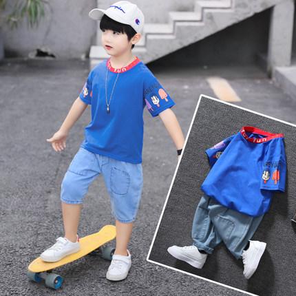 男童夏装2019新款套装3-12岁5帅气