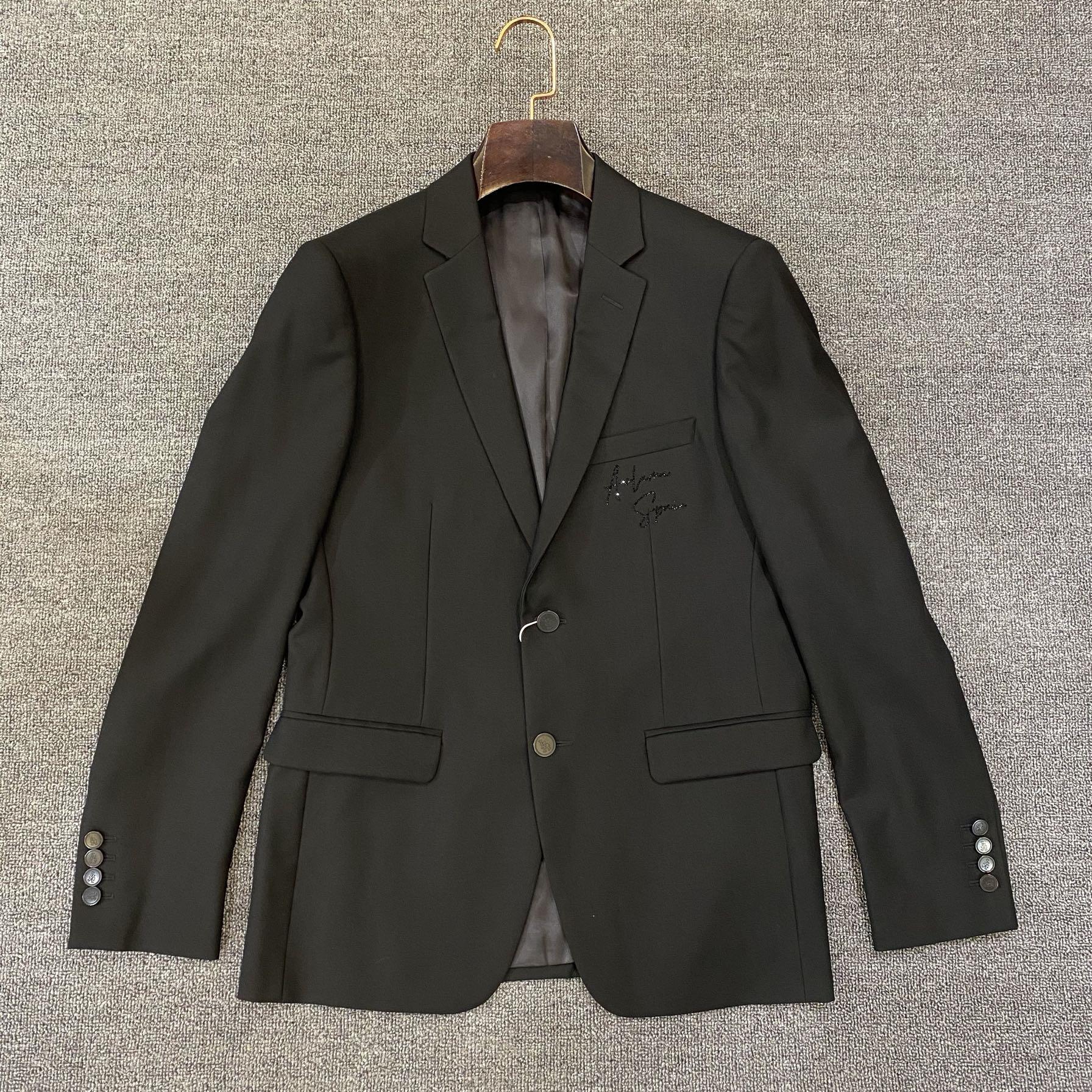 Aolama mens suit simple letter logo hot diamond fit casual suit