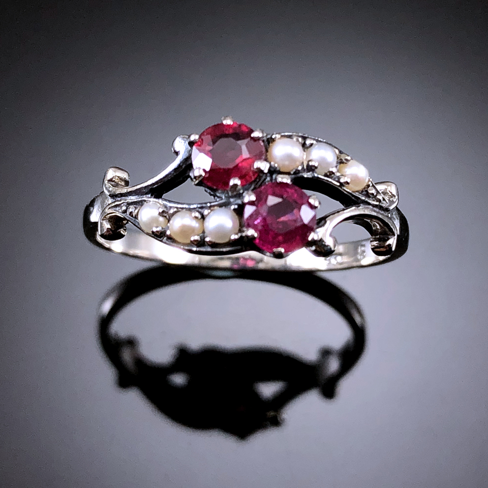 Union jewelry European antique classic Edwards crafts natural ruby inlaid with 925 Sterling Silver Gemstone Ring