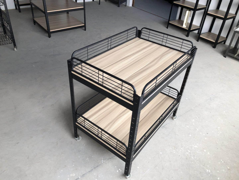 新款包邮热卖超市木质促销车甩货车处理花车堆头货架 折叠理货车