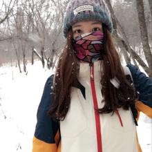 雪山冲锋衣女潮牌韩国加绒加厚三合一两件套户外可拆卸秋冬滑雪服