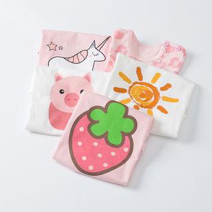 兒童短袖夏季女寶寶純棉半袖上衣嬰兒童裝寬鬆T恤韓版女童夏裝