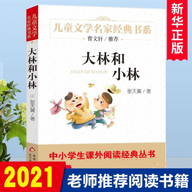 大林和小林 张天翼正版 儿童文学名家经典书系 1-3-6三四五六七八年级中小学生课外小说读物 7-10-12-14岁少儿童文学故事